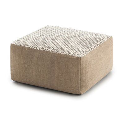 Space Raw Pouf Fabric: White