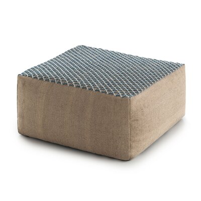 Space Raw Pouf Fabric: Blue