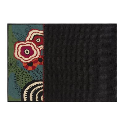 Space Rustic Chic Hand-Woven Black/Blue Area Rug Rug Size: 67 x 910