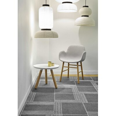 Oryza Hand-Felt White/Gray Area Rug Rug Size: 53 x 710