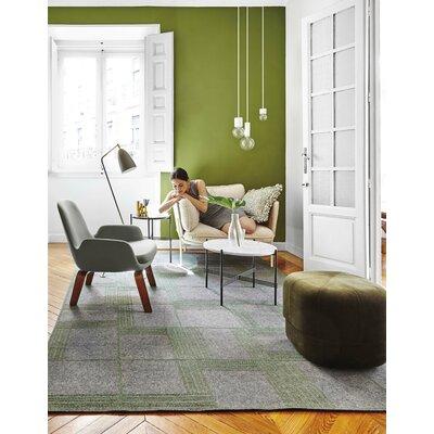Oryza Hand-Felt Green/Gray Area Rug Rug Size: 67 x 92