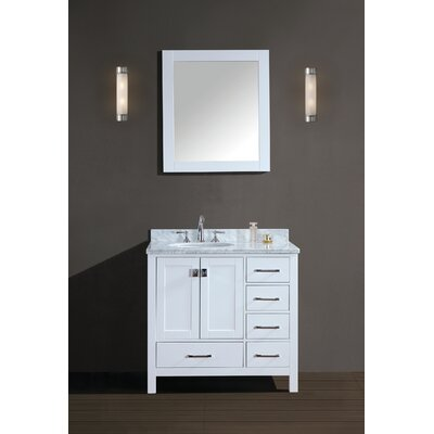 Werth 42 Single Bathroom Vanity Set with Mirror Finish: White