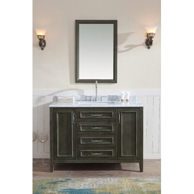 Jude 48 Single Bathroom Vanity Set Base finish: French gray