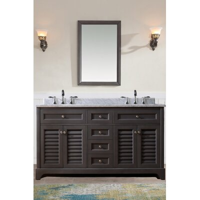 Madison 60 Double Bathroom Vanity Set Base Finish: Maple Gray