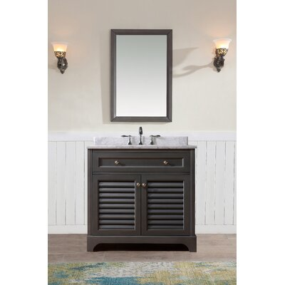 Madison 36 Single Bathroom Vanity Set Base Finish: Maple Grey