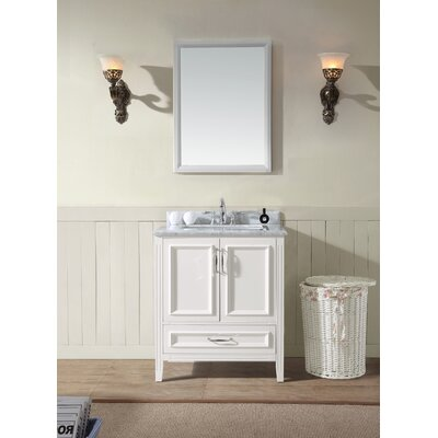 Jude 30 Single Bathroom Vanity Set Base Finish: White