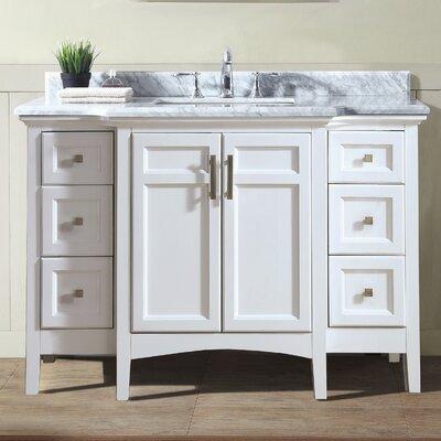 48 Single Bathroom Vanity Base Finish: White