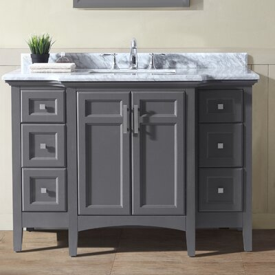 48 Single Bathroom Vanity Base Finish: Maple Gray