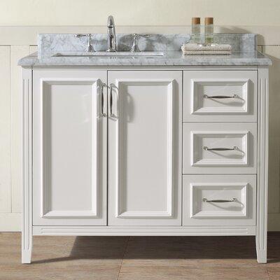 Jude 42 Single Bathroom Vanity Set Base Finish: White