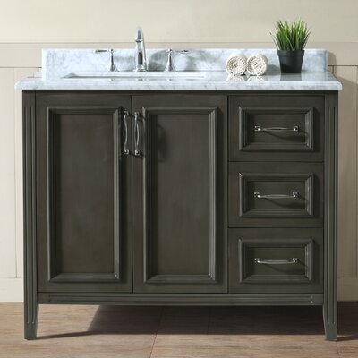 Jude 42 Single Bathroom Vanity Set Base Finish: French Gray
