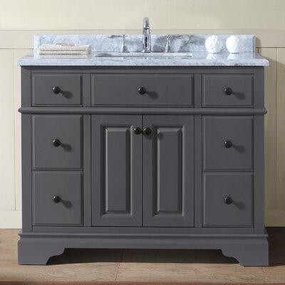 Chela 42 Single Bathroom Vanity Set Base Finish: Maple Gray