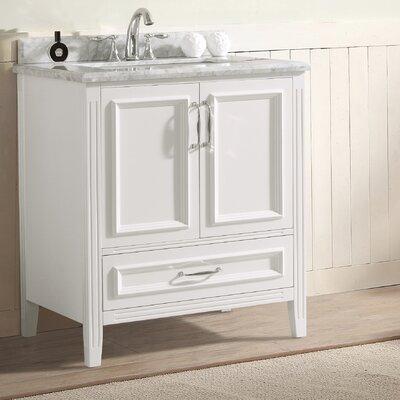 Jude 30 Single Bathroom Vanity Set Base Finish: White