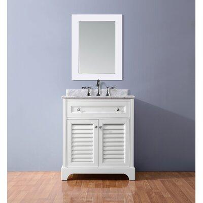 Madison 36 Single Bathroom Vanity Set Base Finish: White