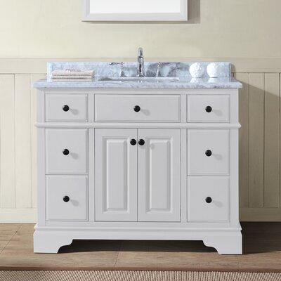 Chela 42 Single Bathroom Vanity Set Base Finish: White