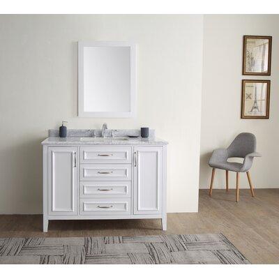 Jude 48 Single Bathroom Vanity Set Base finish: White