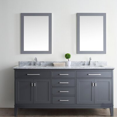 Danny 72 Double Bathroom Vanity Set