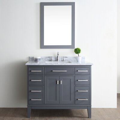 Danny 42 Single Bathroom Vanity Set Base Finish: Maple Gray