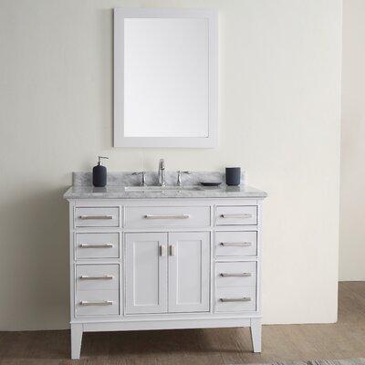 Danny 42 Single Bathroom Vanity Set Base Finish: White