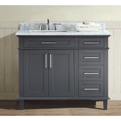 42 Single Bathroom Vanity Set Base Finish: Charcoal
