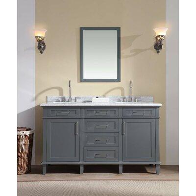60 Double Bathroom Vanity Set Base Finish: Charcoal