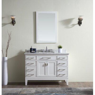 Danny 48 Single Bathroom Vanity Set Finish: White