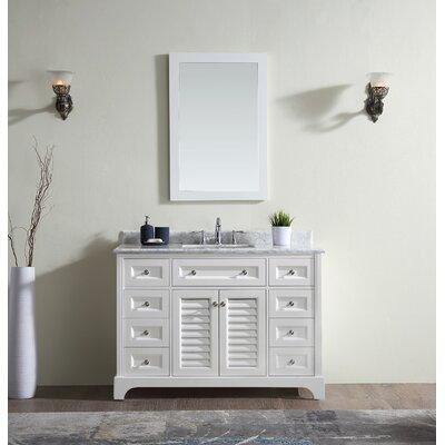 Madison 48 Single Bathroom Vanity Set Base Finish: White