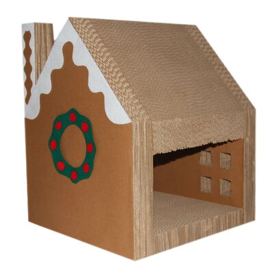 Christmas Cat House with Scratcher Lounger