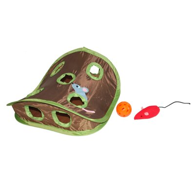 Pop-Up Collapsible Interactive Mouse Hunt Cat Toy