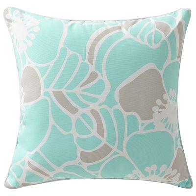 Rapee Outdoor Throw Pillow Color: Hibiscus Aqua