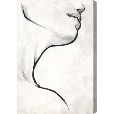 White Contour Canvas Print, Oliver Gal