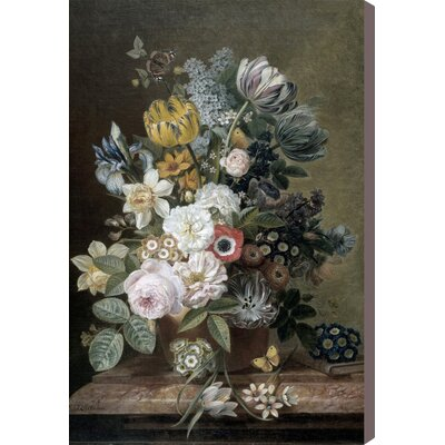 'Flower Arrangement III' Painting Print on Canvas Size: 15