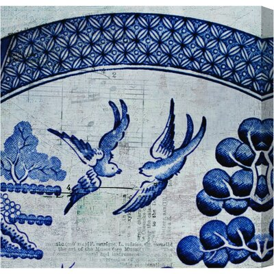 'China Birds' Painting Print on Canvas Size: 12