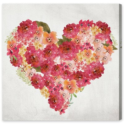 Watercolor Heart Canvas Print, Oliver Gal