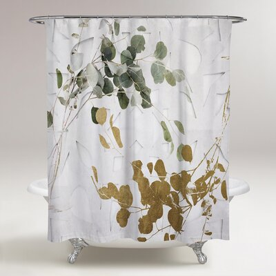 Rocheleau Leaves Shower Curtain