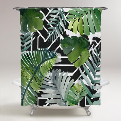 Rupendra Palm Leaves Shower Curtain