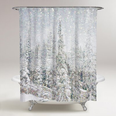 Magic Snow Trees Shower Curtain