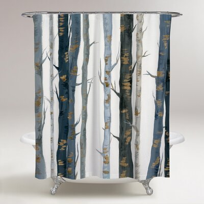 Kulkarni Behind the Woods Shower Curtain