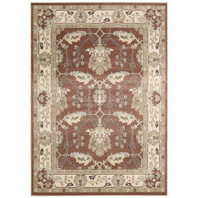 Denis Rust/Ivory Area Rug Rug Size: 710 x 106
