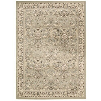 Lyon Light Green Area Rug Rug Size: Rectangle 53 x 74
