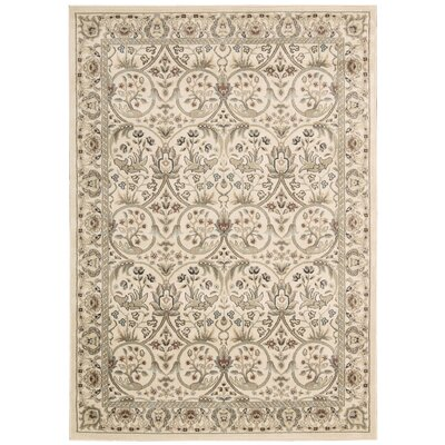 Lyon Gray/Ivory Area Rug Rug Size: Rectangle 93 x 129