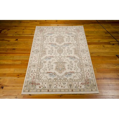 Lylou Ivory Area Rug Rug Size: Rectangle 53 x 74