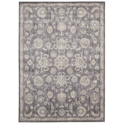 Lorient Gray Area Rug Rug Size: Rectangle 53 x 73