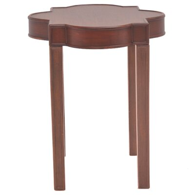 Timothe Quatrefoil End Table Finish: Brown