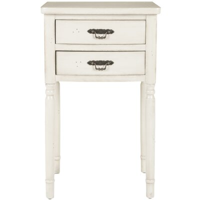 Montauban End Table With Storage Color: White