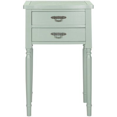 Montauban End Table With Storage Color: Dusty Green