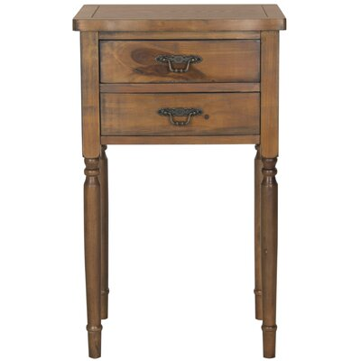 Montauban End Table With Storage Color: Brown