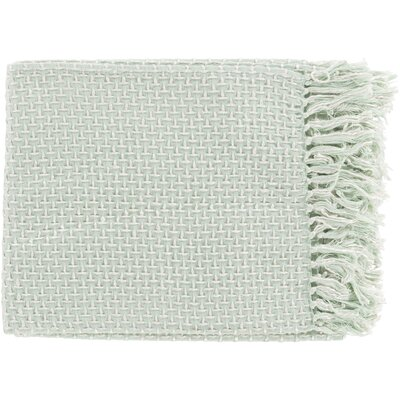 Leny Cotton Viscose Throw Blanket Color: Light Green