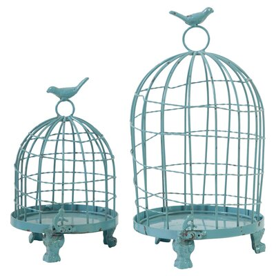 2 Piece Ethel Decorative Bird Cage Set