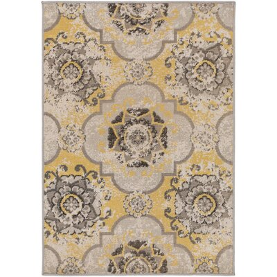 Raquel Yellow/Brown Area Rug Rug Size: Rectangle 28 x 5