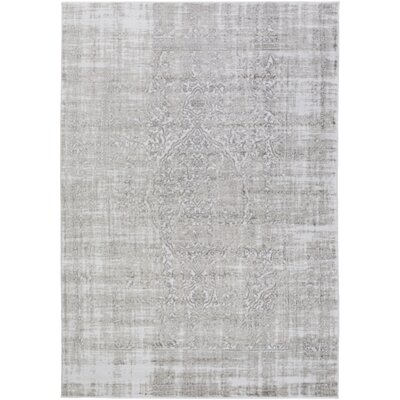 Ismay Ivory/Medium Gray Area Rug Rug Size: Rectangle 39 x 52